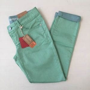 Mossimo light green skinny ankle jeans NWT